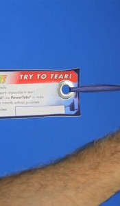 BANNER UPS CLEAR POWER TABS