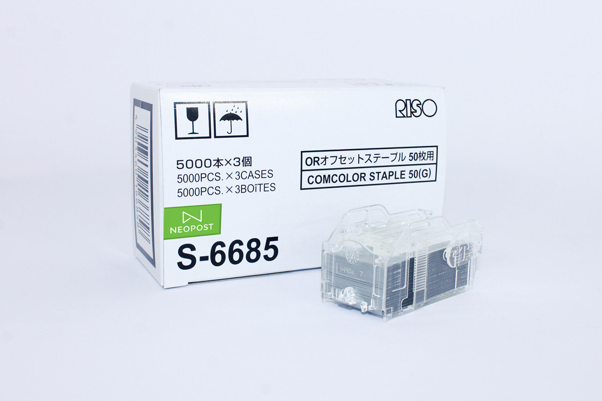 RISO COMCOLOR S-6685 STAPLE CARTRIDGE