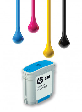 HP 728 40ML CYAN WIDE FORMAT INK