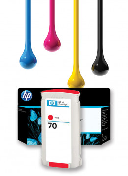 HP 70 RED WIDE FORMAT INK 130ML