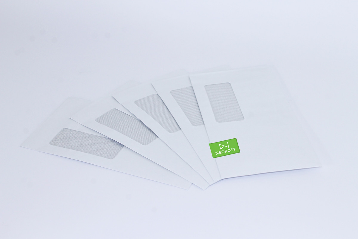 Neopost Envelopes  120 x 235 LicknStick/Std Window-Secretive (DLX) - 500 per box