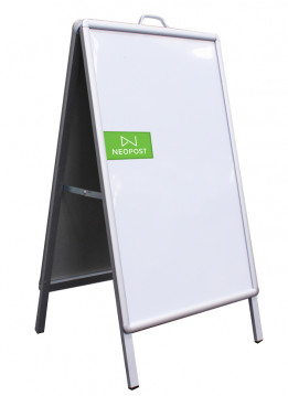 A FRAME 0.6X0.85M DOUBLE SIDE (WITH PVC BOARD)