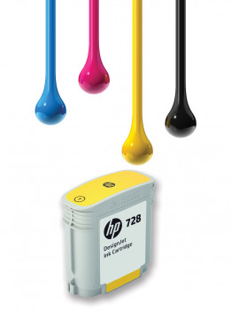 HP 728 40ML YELLOW WIDE FORMAT INK