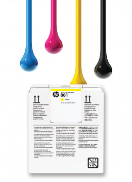 HP 881 5L YELLOW WIDE FORMAT INK