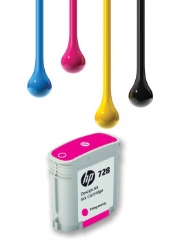 HP 728 40ML MAGENTA WIDE FORMAT INK